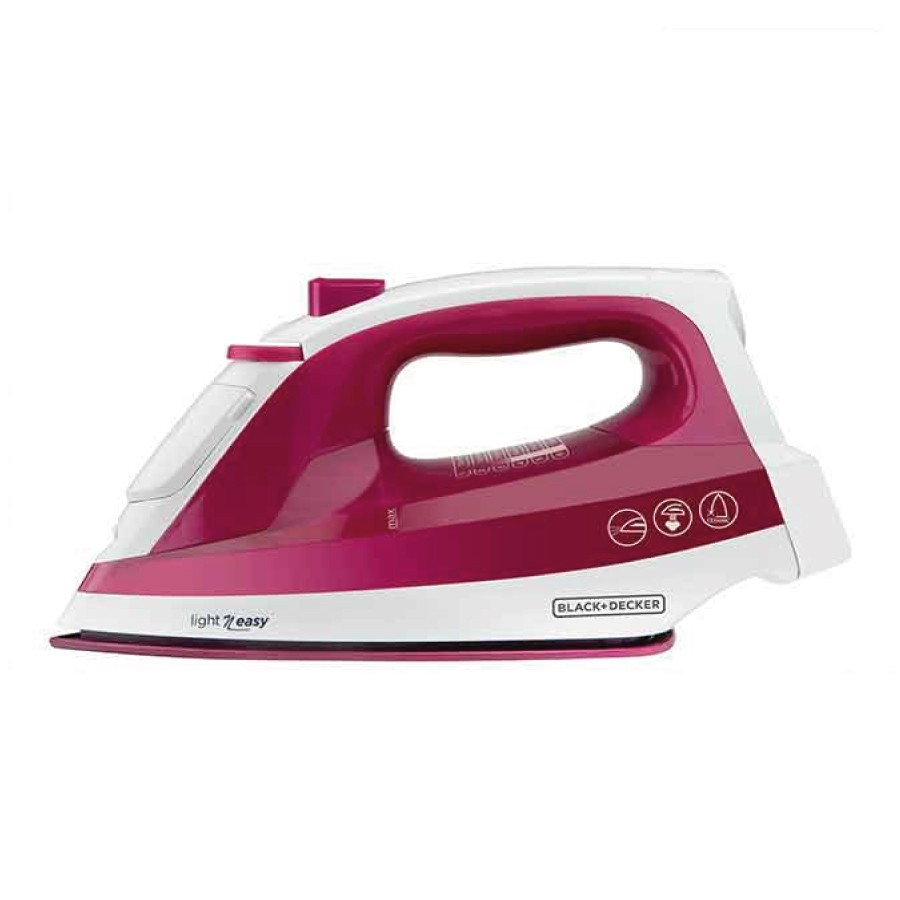 Plancha a vapor variable. 1200 watts.  Color vino tinto. Black and Decker
